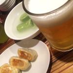 61150206 - 餃天堂セットと生ビール