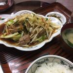 明朗飯店 - レバー炒め定食でした。
