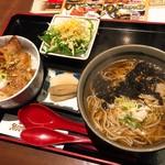 61154020 - ミニ丼と麺のセット(税抜1,000円)