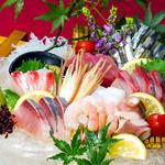 居酒屋 朝次郎 - 旬の魚介をふんだんに盛り込んだ刺身の盛り合わせ☆市場からその日に入ってくる新鮮な魚介の数々は朝次郎だからこそ味わうことが出来ます☆ 1200円~