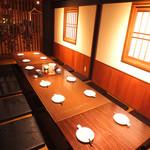 居酒屋 朝次郎 - 落ち着いた雰囲気の個室が朝次郎にはたくさんあります!人数に合わせた個室をご用意致します!