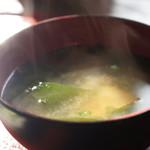 ごはんや楓屋 - わか竹の味噌汁、手抜きの無い本物です(2017.1.12)