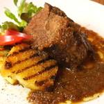 オステリア バルバロッサ - 牛肩肉のブラザート
