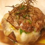 オステリア バルバロッサ - 静岡県産ジャンボマッシュルームの肉詰めカルトッチョ