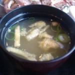 道の駅旭志 旭志村ふれあいセンター ほたるの里 - ・味噌汁は薄め、具は少ない