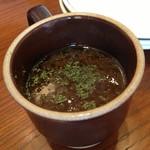 フードアンドバー 湘南パンケーキ - オニオンスープ(ハンバーグプレート用)