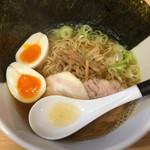 麺屋M - ラーメン並(750円)+味玉(100円)