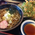 里のめぐみ - 料理写真:かき揚げそば(800円)★★★★☆