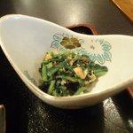 吉膳 - 菊菜のゴマ和え