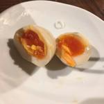 つけ麺 紋次郎 - 味玉