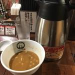 つけ麺 紋次郎 - 割りスープ