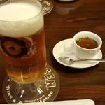 ぴるぜん - ビールとお通しのスープ