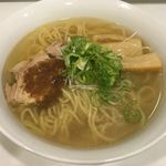 Japanese Soba Noodles 蔦 - 日テレ通販冷凍ラーメン「塩」(ネギだけ自前)