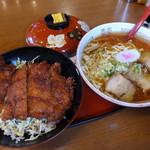 めでたいや - 中華そば+ミニソースかつ丼セット(1,000円)