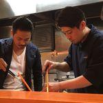 Japanese Soba Noodles 蔦 - 大西店主(左)と伊丹店長(右)