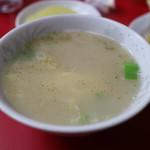 五香飯店 - 炒飯にはスープが付きます