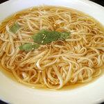 無限堂 - 「稲庭うどんとカツ丼(週替りランチ)」稲庭うどん(大盛)