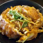 無限堂 - 「稲庭うどんとカツ丼(週替りランチ)」カツ丼