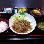 御食事処 おく村 - 料理写真:《生姜焼き定食》