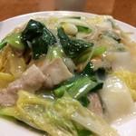 海鮮広東料理 中華料理 昌園 - 隠れちゃいましたが、海老、イカ、豚肉などたっぷり入っているんですよ(2017.1.13)
