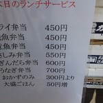 Uomatsu - メニュー