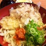 福島 やまがそば - 「皿うどん」(780円)。配膳状態。サービス対象品はセットにしない場合は100円引?