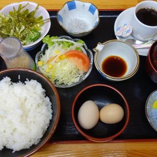 道の駅 ビオスおおがた ひなたや - 料理写真:卵かけごはんのモーニング