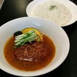 駅前カリー ベジ - ハンバーグとお野菜のカレー+ライスLL