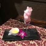 アラム バリ カフェ - 大人のクリームソーダ。ドリンクかデザートか?