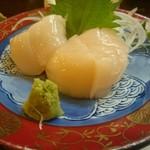 創作和食敬三 - ホタテ貝柱の刺し身