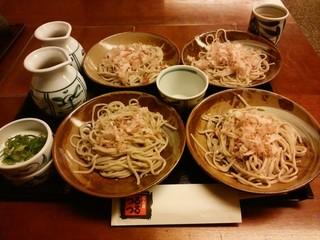 めん房つるつる 明治店 - 半額祭なので600円で4皿登場します。