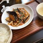 ダオフー - 茄子と豚肉のピリ辛炒め