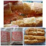 フルフル天神パン工房 - ◆明太フランス(380円)・・半生状態の「明太子」がタップリ入っていて、フランスパンの硬さも丁度いいですよ。 軽くトーストするとより美味しく頂けます。