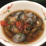 鮮味食彩 宇佐川水産 - なまこポン酢(豚カツ定食)