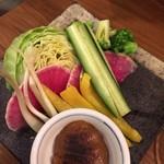 ちゅら屋 - 彩り野菜のアンダンスー味噌