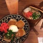 ちゅら屋 - ラフテー丼+ソーキそば