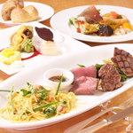 kitchen 伊志川 - 料理写真:月替わりパスタと3種類の肉料理のワンプレートランチ