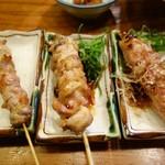 焼き鳥居酒屋とりとり - 阿波尾鶏の串