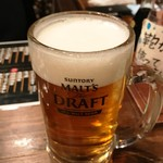 酒蔵大沼 - モルツ生(380円)