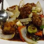 香港厨房 - 〇季節メニューの牡蠣炒め 480円