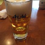 うなぎの沢栄 - 生ビール(600円)