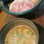 麺処 三鈷峰 - 味玉つけ麺 (温)