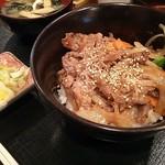 えどや食堂 - 肉丼定食(日替わりで770円)