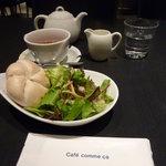 カフェ コムサ - パン・サラダと紅茶