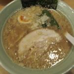 溝ノ口野郎 - 濃厚トリガラ煮干し塩ラーメン(700円)