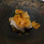 リストランテ イル バンビナッチョ - 北海道のホタテ カラスミのせ