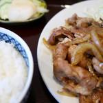 61235609 - 豚生姜焼き定食 ご飯の炊き加減が良。