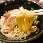 やぶ福 - 麺アップ