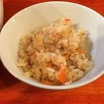 麺処 あす花 - スープで炊いたごはん・サービス