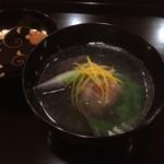 霞町 しろう - 椀物:甘鯛・大根・芽蕪の椀